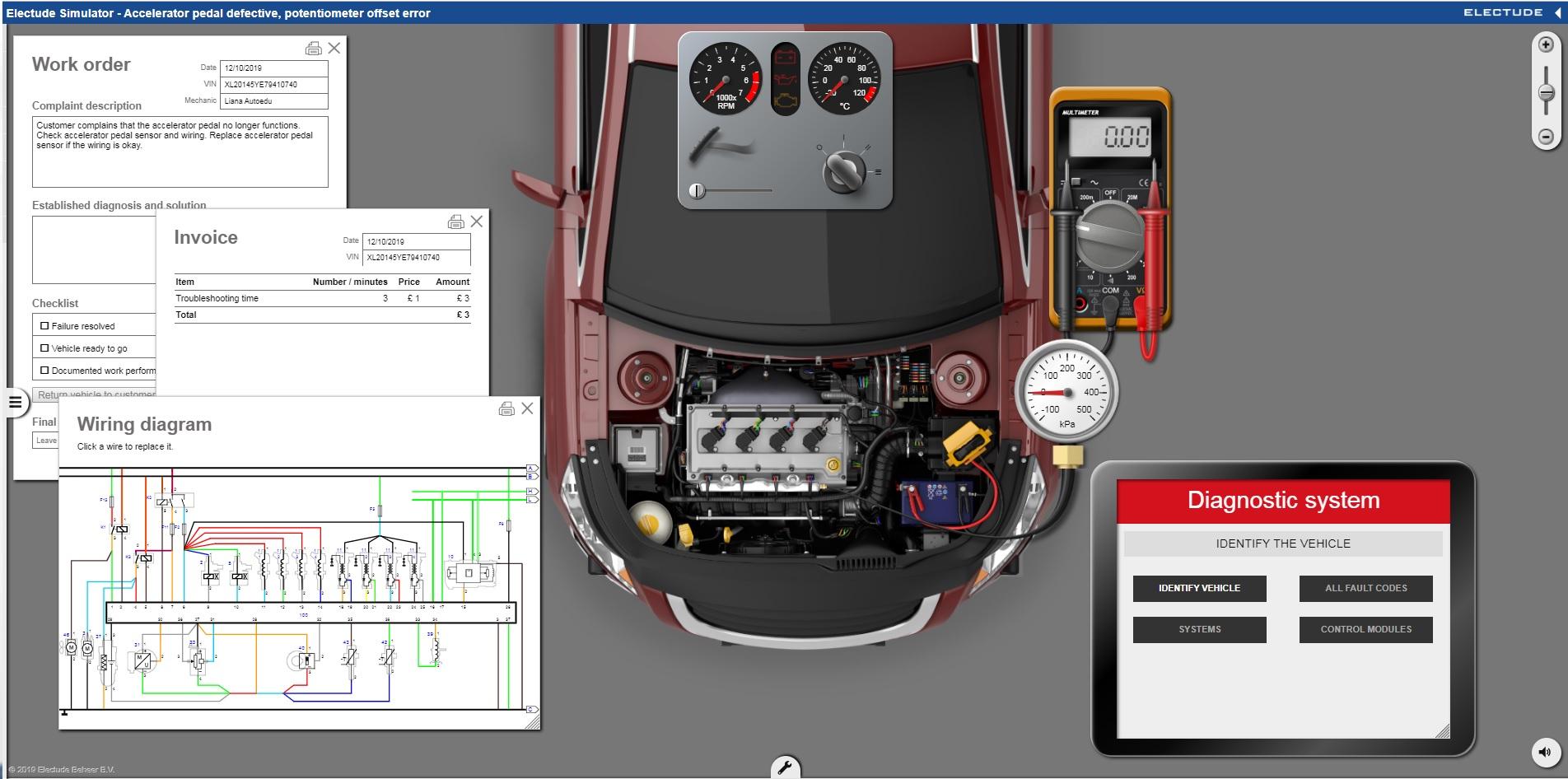 Dzinēju simulators – iespēja veikt servisa remonta procedūras reālā(virtuālā) auto servisā: